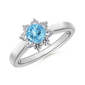 Angara Aquamarine Engagement Ring in White Gold 1TnJv