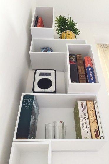 Weisses Bücherregal weißes bücherregal schräg unten mein zu hause projekt