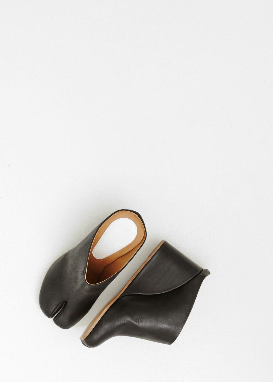 Maison Martin Margiela Maison Margiela Leather Tabi Mules cheap fake cdHvBt0xZX