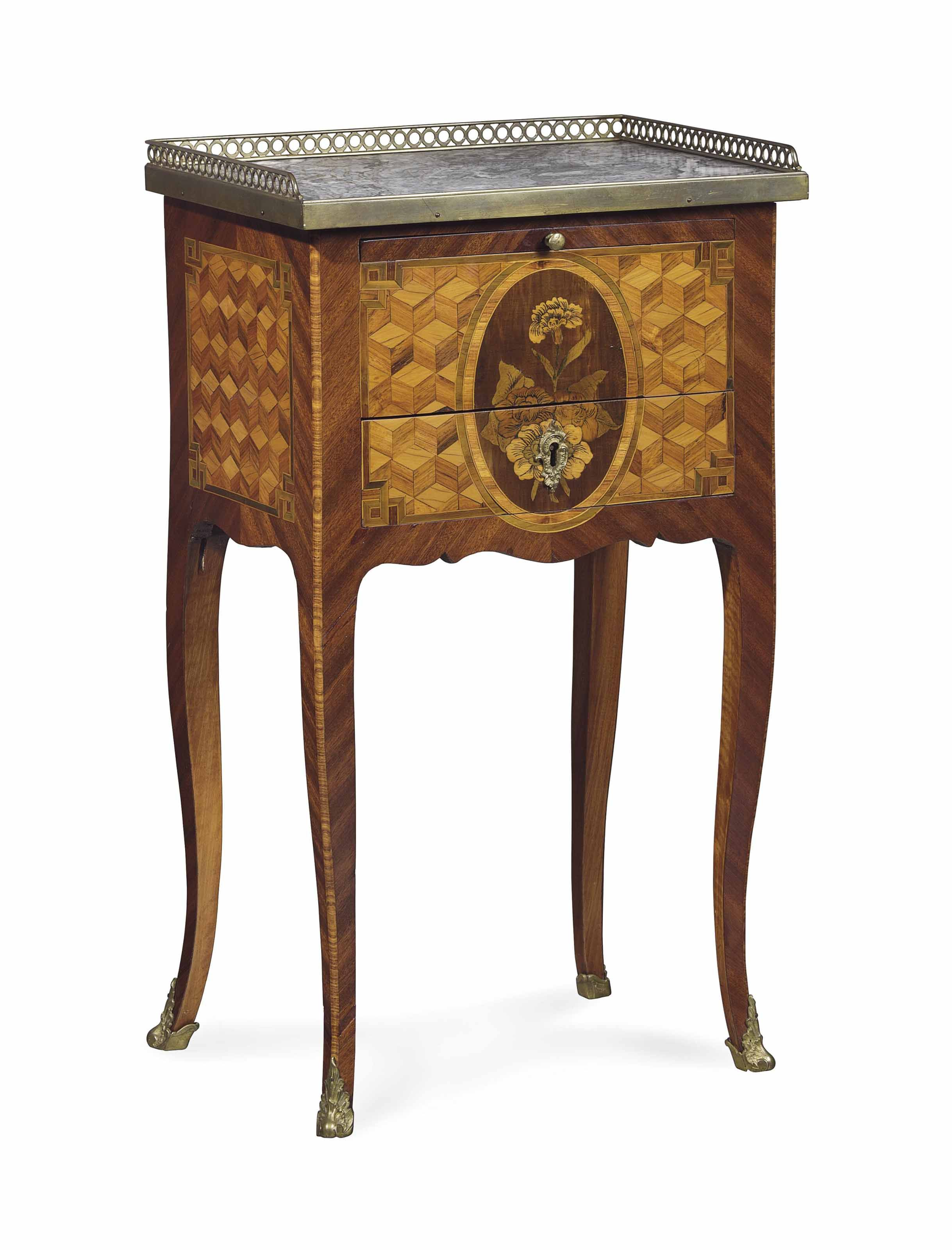 A Louis Xv Kingwood Marquetry And Parquetry Occasional Table Mid  # Meble Narcisse