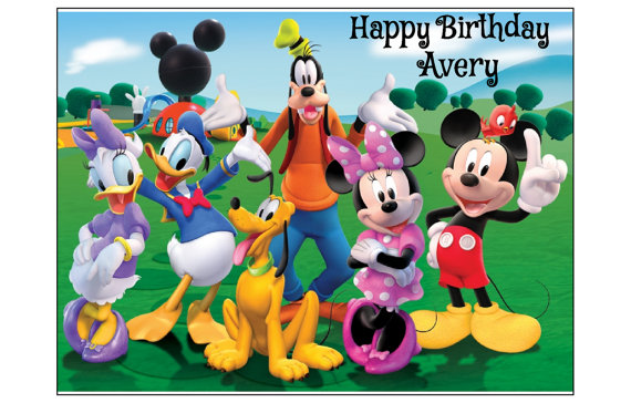 CAKE TOPPER DECORATION MICKEY MOUSE DISNEY ICONS SHEET EDIBLE IMAGE