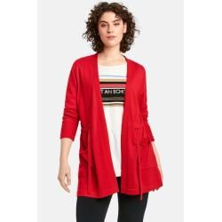 Photo of Samoon long cardigan with drawstring lava red women Gerry Weber