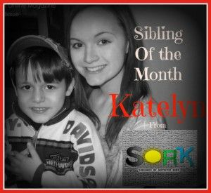 Online magazine for siblings of kids with autism.  February SIBLING of the Month- KATELYN