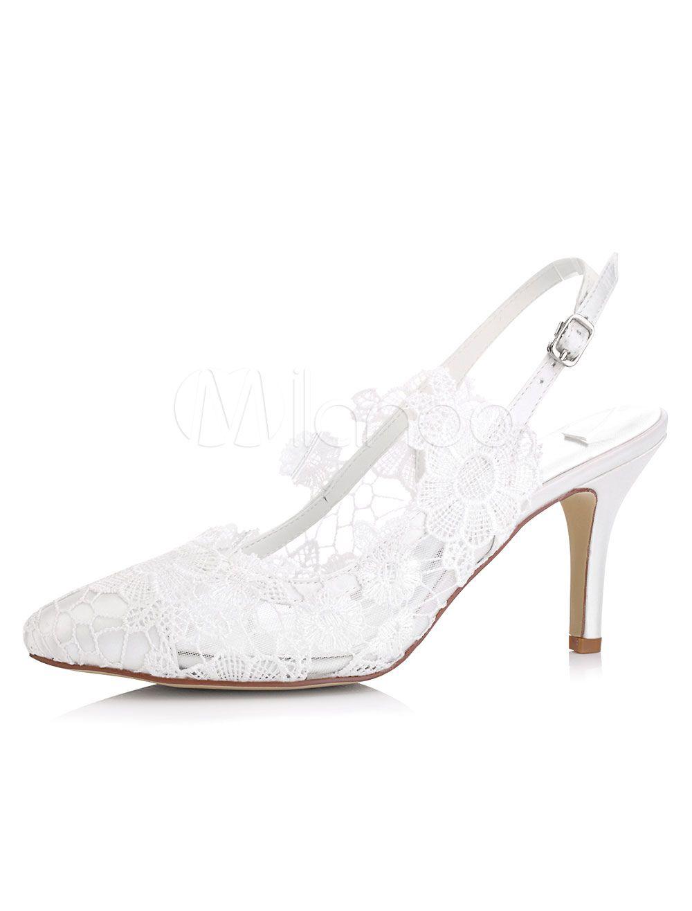 Spitze Hochzeit Schuhe Kitten Heel Toe Flower Satin Brautschuhe