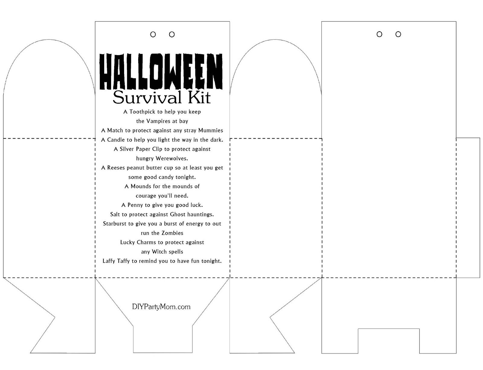Halloween Printable Survival Kit To Keep You Safe From