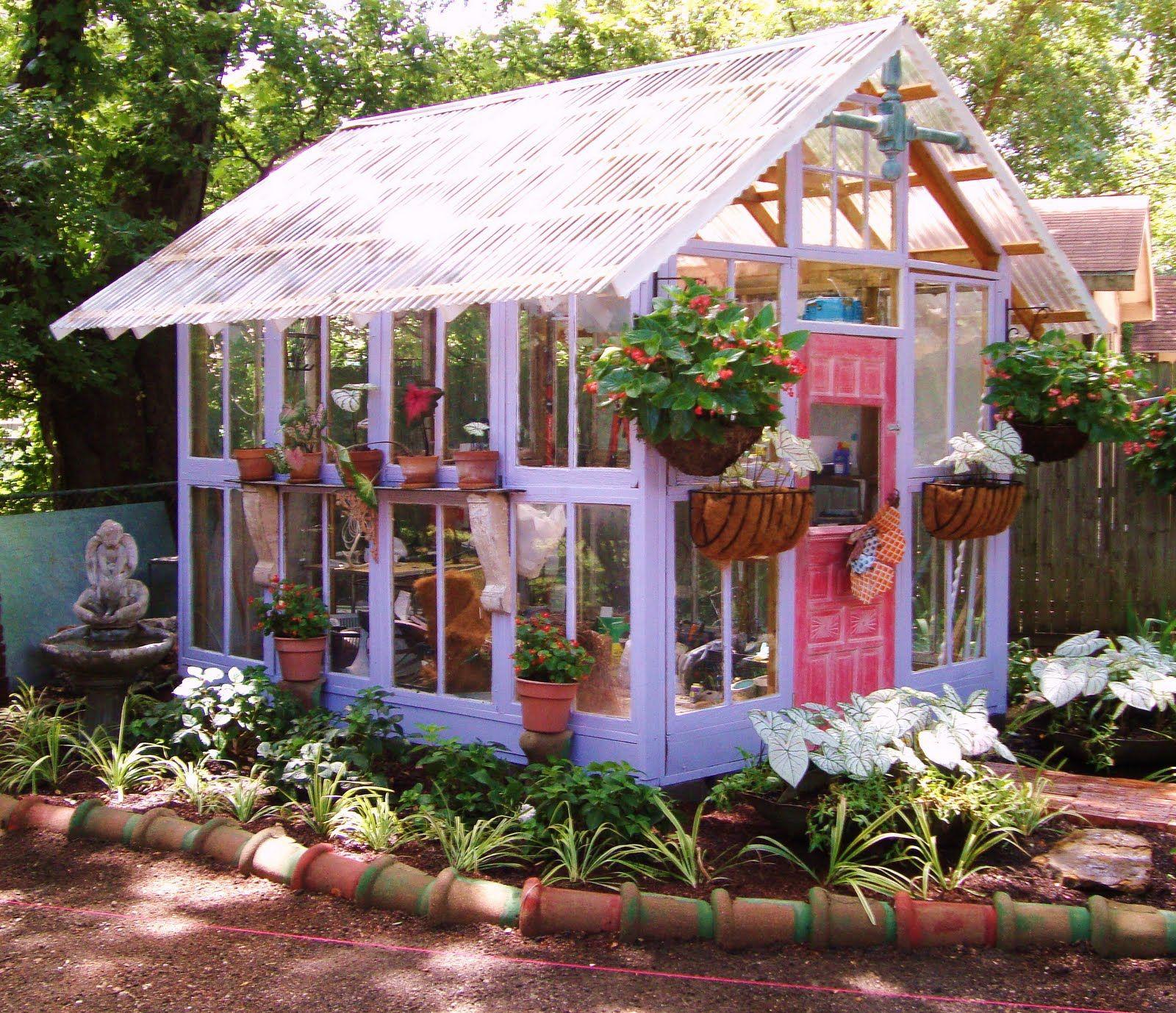 upcycling – so bauen sie ihr gewächshaus umweltbewusst, Gartengerate ideen