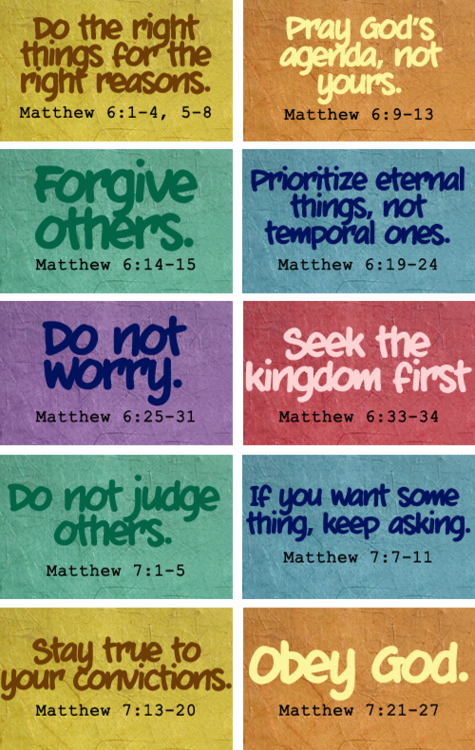 reminders from the book of matthew.