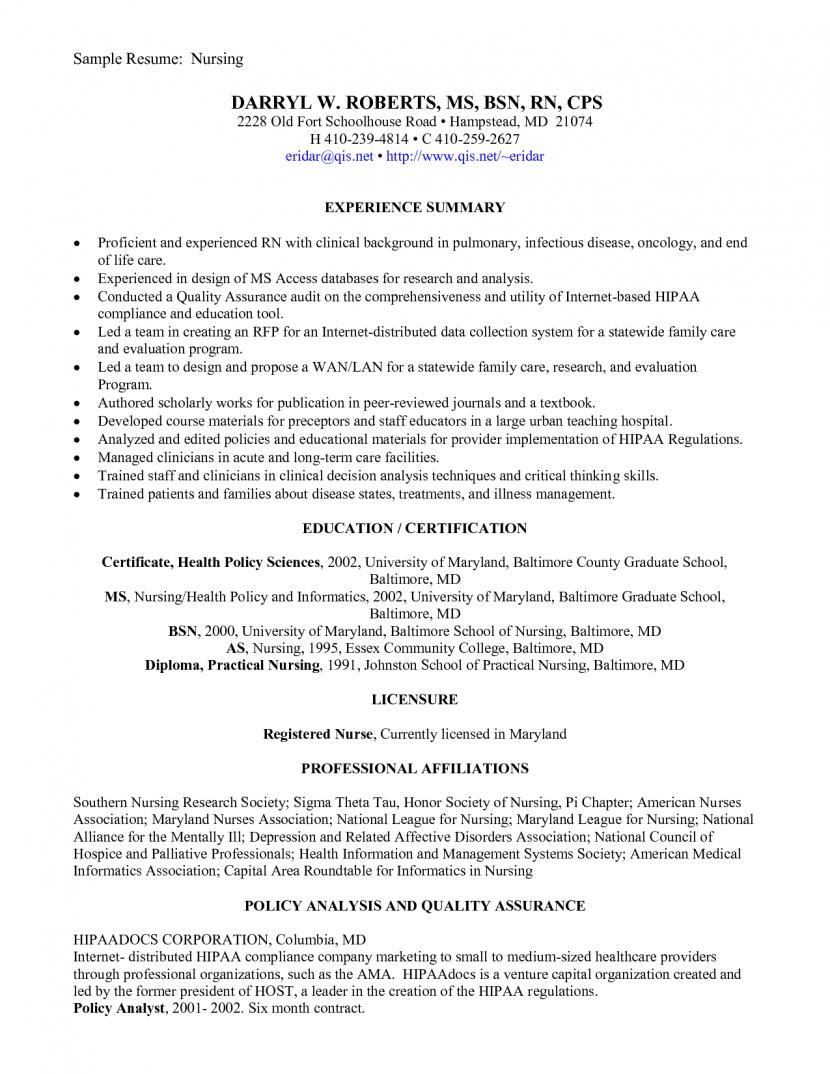 Resume For New Nurse Grad Lpn Sample Nursing Entry Level Templates