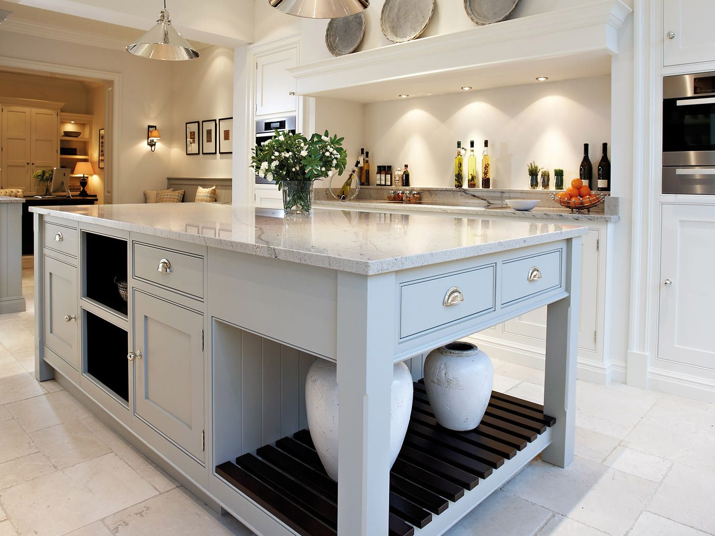 Bespoke Kitchen Island   A Contemporary Classic Style Kitchen Contemporary Shaker  Kitchen
