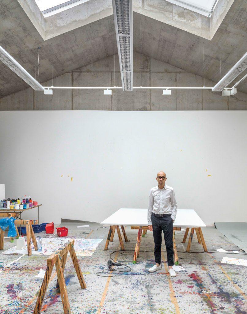 Inside Bernard Frize S Minimalist Studio In Berlin Galerie Painting Studio Workspace Studio Studio
