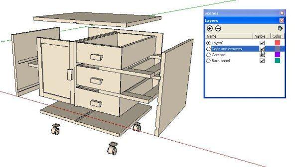 Explode Your Model In Sketchup Sketchup Woodworking Diy Shops