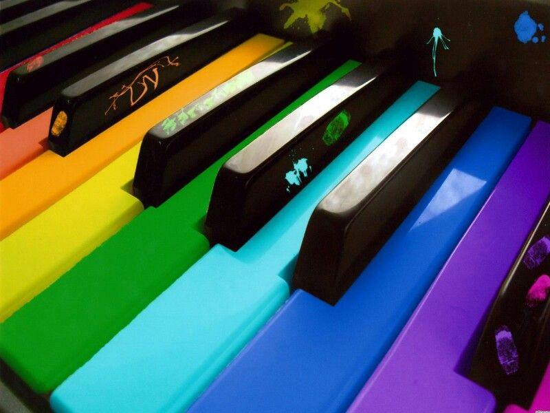 Colorful keys for making beautiful music.