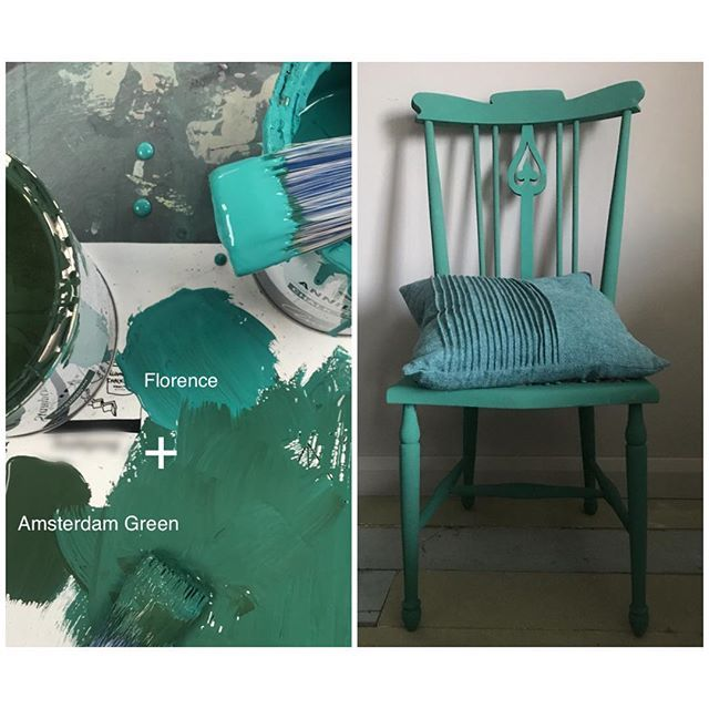 Teal number 2 has more green and less turquoise. It's a mix of Amsterdam Green and Florence. A little more Florence on the middle splat.