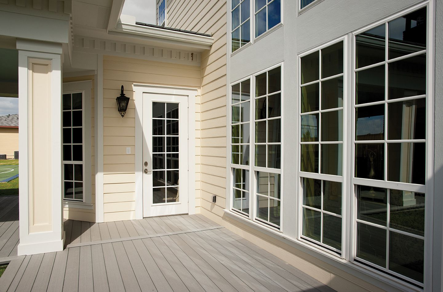 The Therma Tru Smooth Star Door Full Lite With Stile Lines Is Not