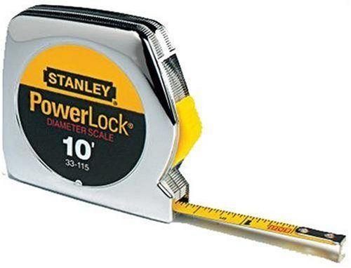 Stanley 33-115 10-Foot-by-1/4-Inch PowerLock Pocket Tape Rule - http://www.henryspowertools.com/shop-2/stanley-33-115-10-foot-by-14-inch-powerlock-pocket-tape-rule/