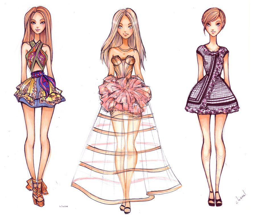 Fashion Design App Flat Sketches for phone and tablet 8