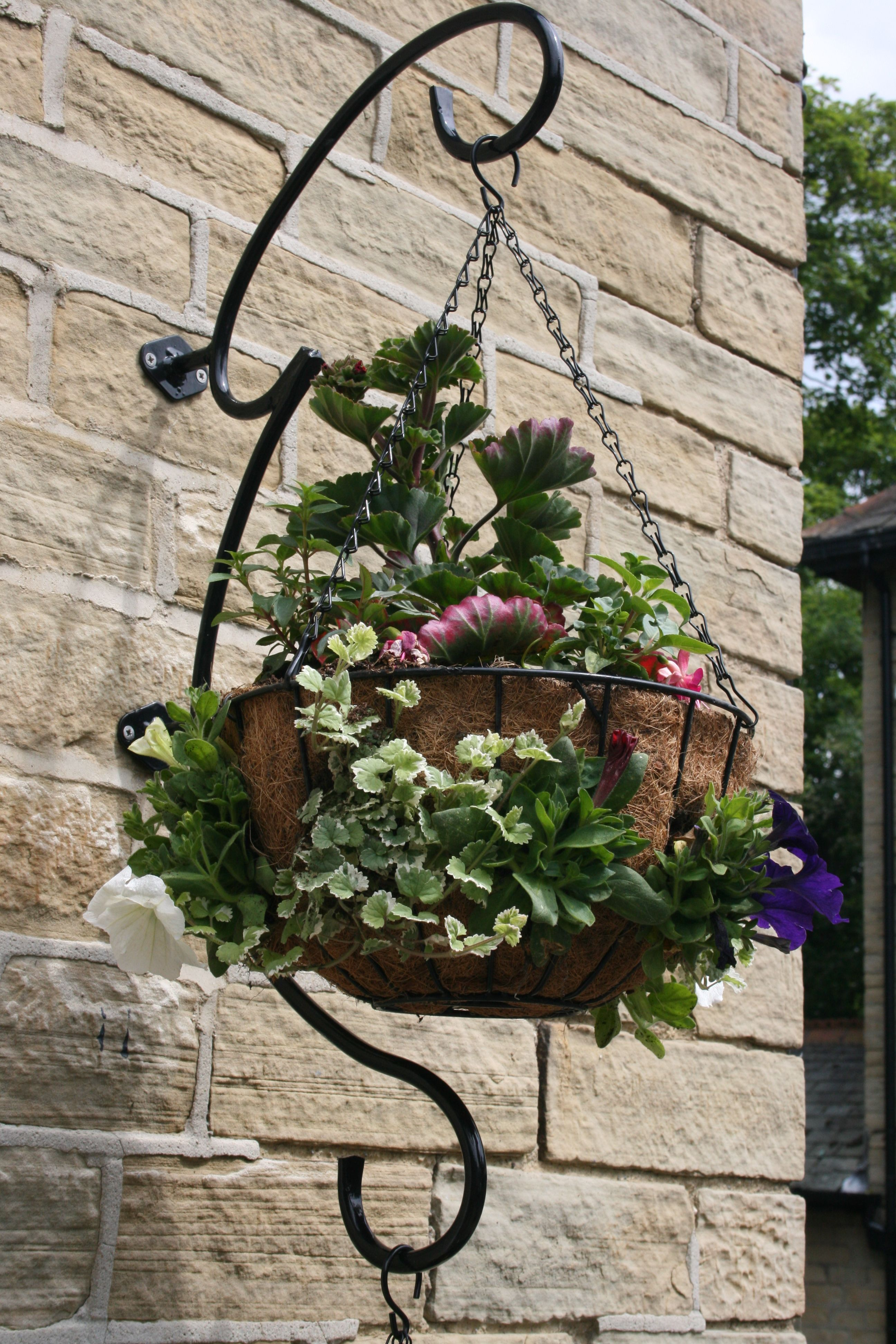 The Round Hand Hanging Basket Bracket Is Designed To Elegantly