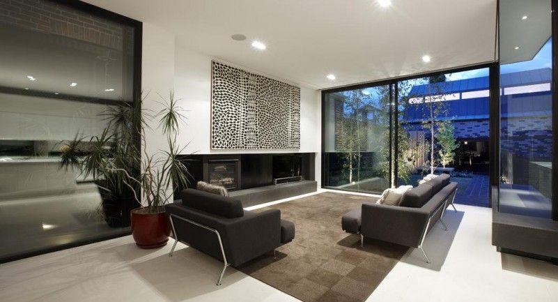 Wohnzimmerfenster Dekorieren ~ Wohnzimmer modern steinwand deko fur wohnzimmerfenster deko fr