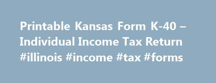 Printable Kansas Form K  Individual Income Tax Return