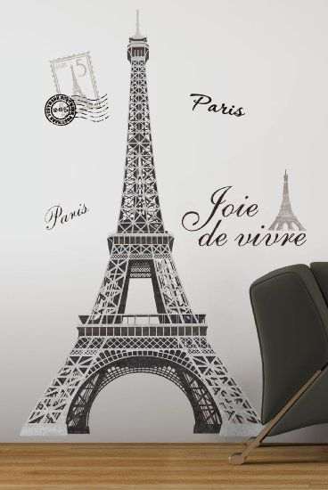 RoomMates RMK1576GM Eiffel Tower Peel and Stick Giant Wall Decal - Amazon.com