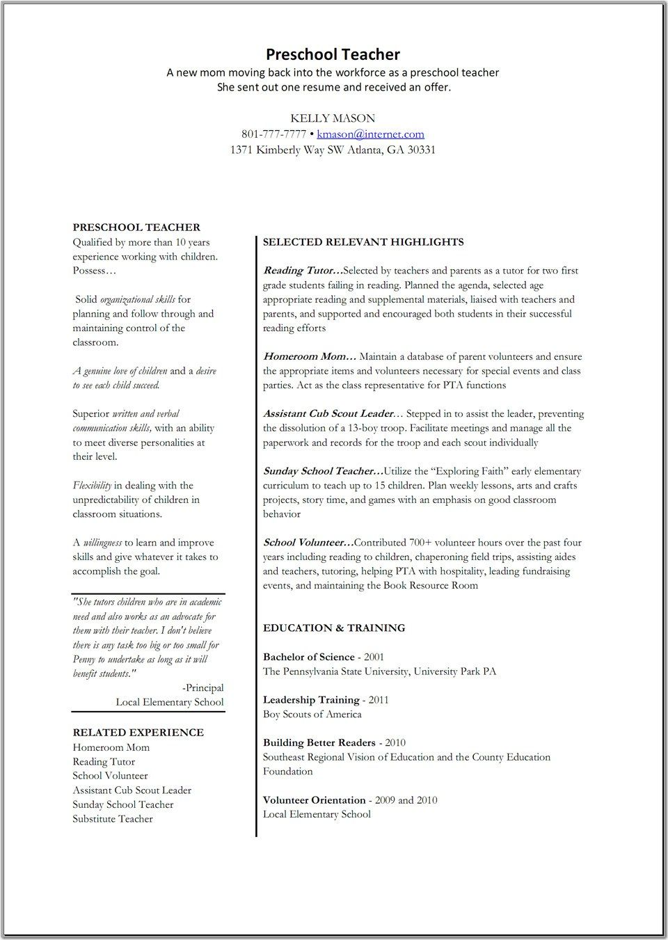 resume examples for teaching jobs medical secretary sample primary ...