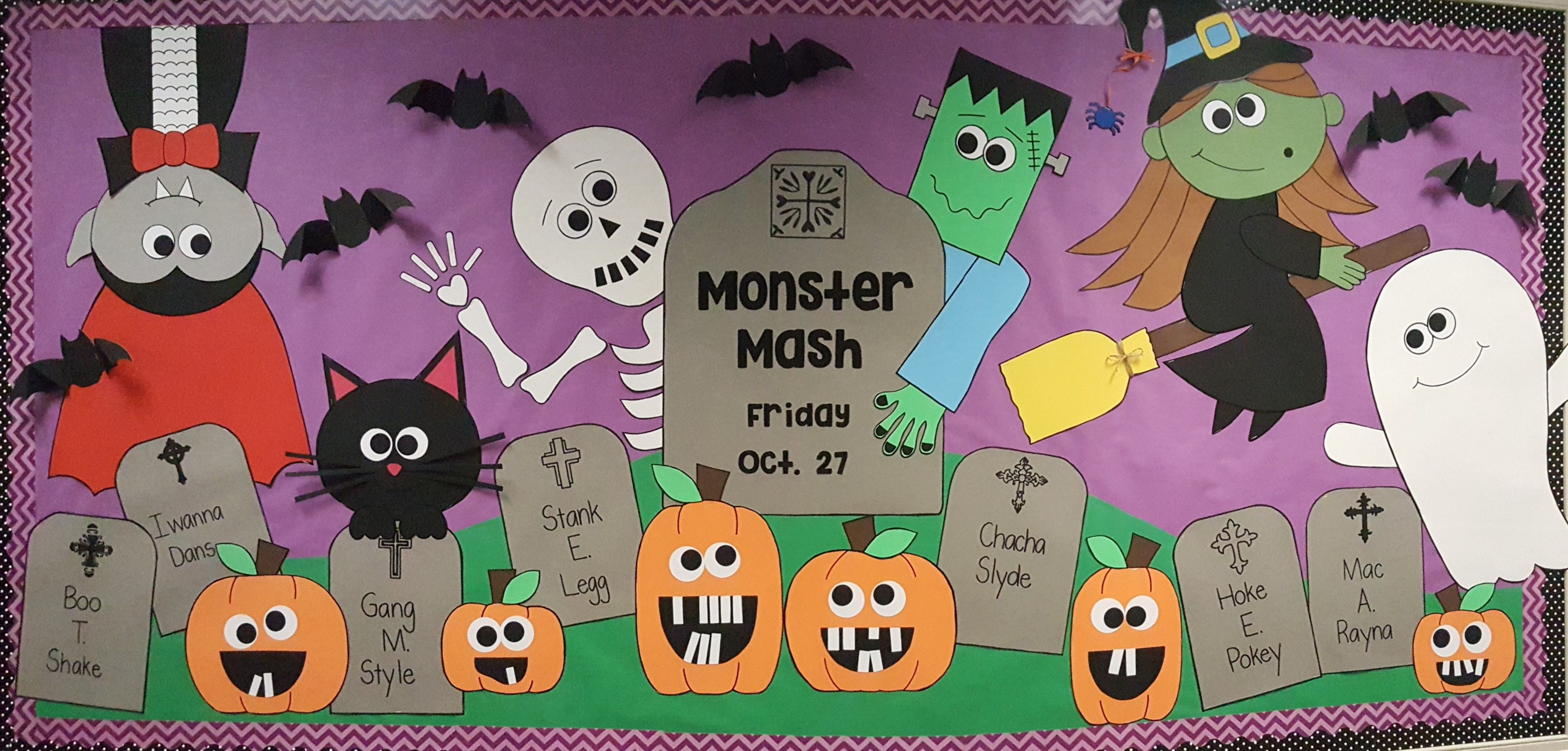 halloween monster mash bulletin board | bulletin boards | pinterest