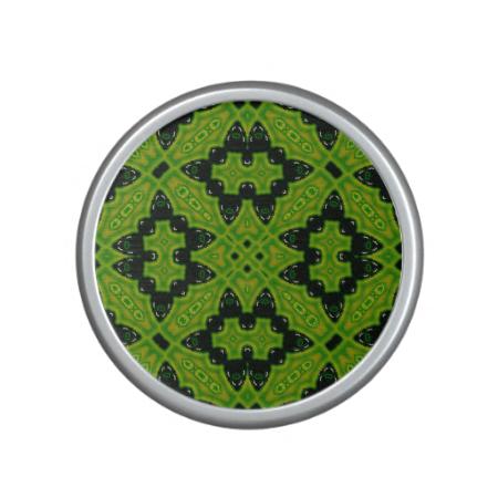 Abstract Pattern green black Speaker