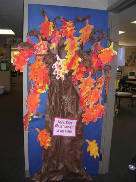Fall Oak Tree Classroom Door Decoration Preschool