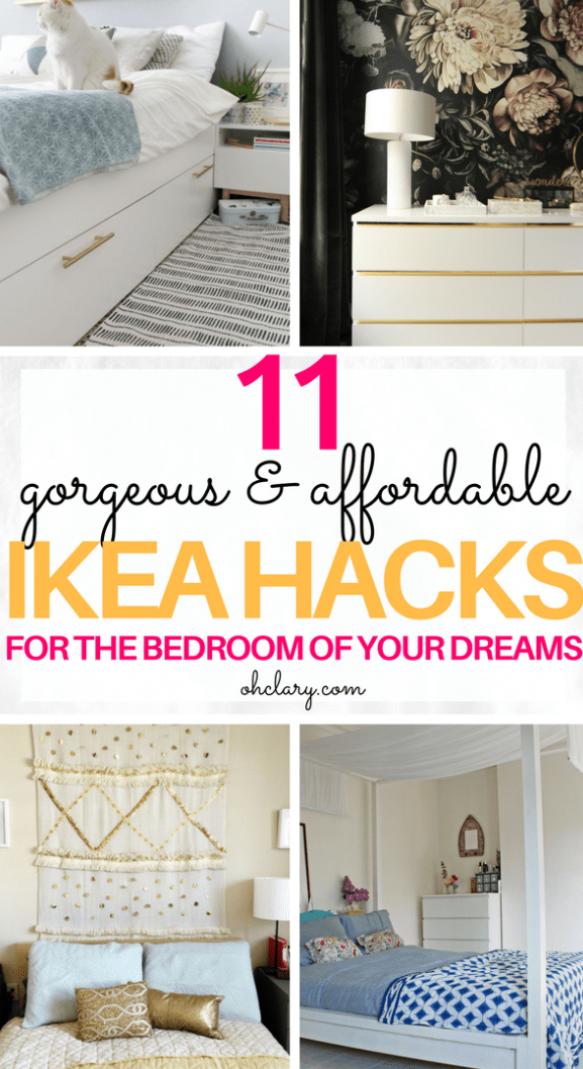 11 Genius Ikea Bedroom Hacks That Will Blow Your Mind Bedroom Design Diy Ikea Bedroom Bedroom Hacks