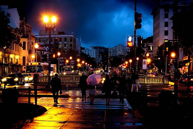 Dupont Circle at night, love those city lights, so romantic.