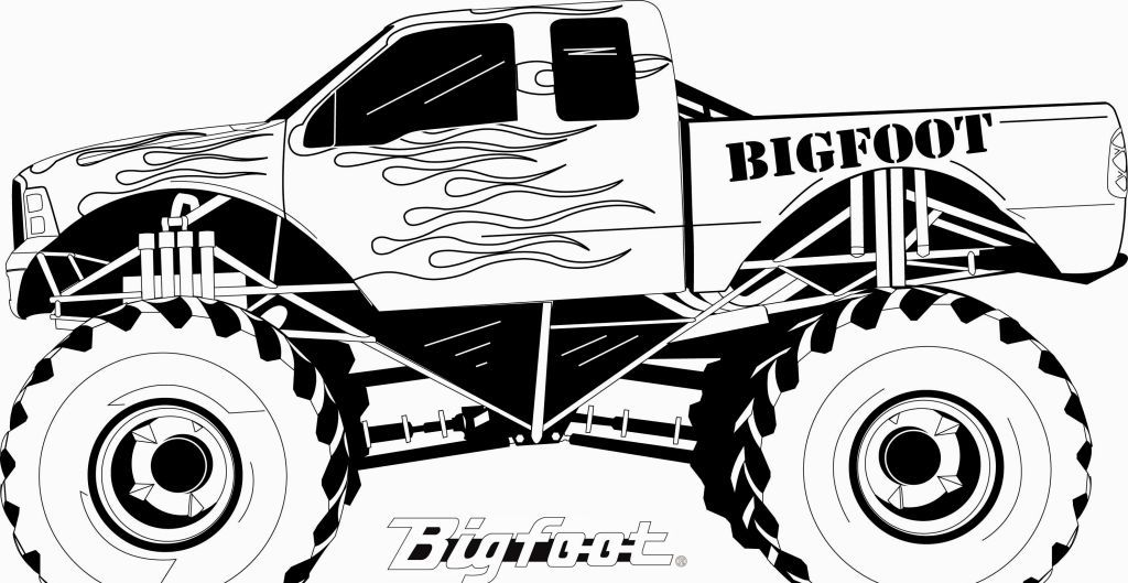 Monster Truck Coloring Pages | Coloring fun | Pinterest | Imágenes ...
