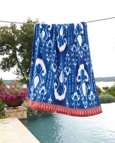 Vaya Indigo Blue Beach Towel