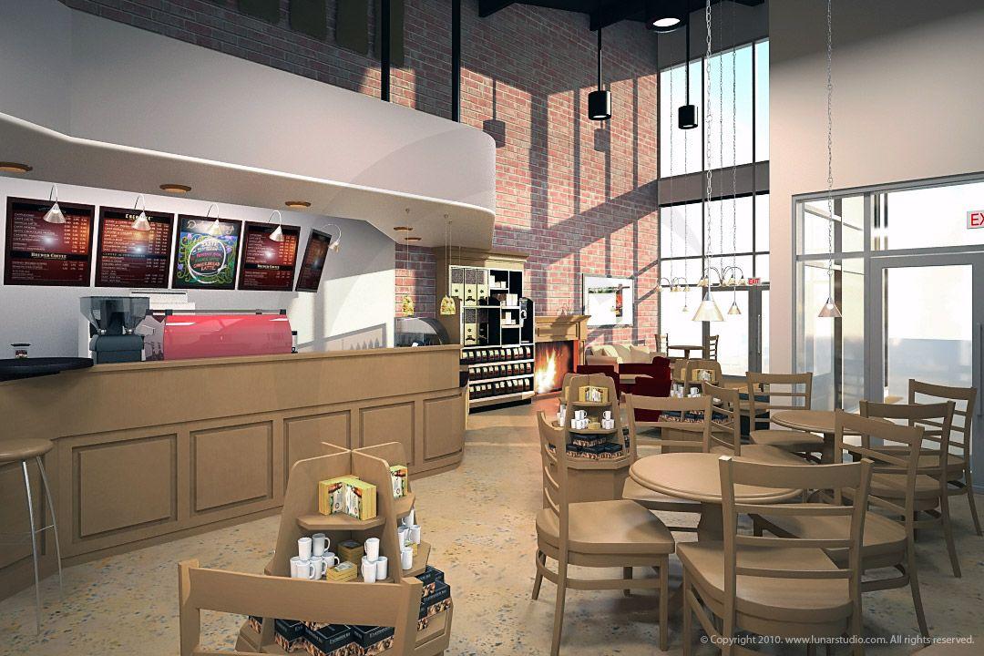 Cafe Rendering Artist Modeler Cleo Enterier Design Cafe Design Commercial Interiors