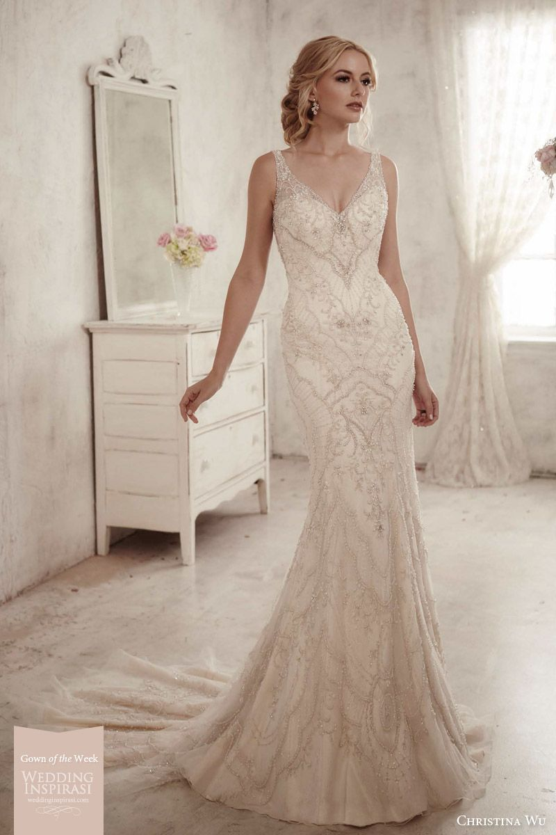 weddinginspirasi:    How pretty is our Gown of the Week? Its style 15594 by Christina Wu. Details at: http://bit.ly/cwu15594