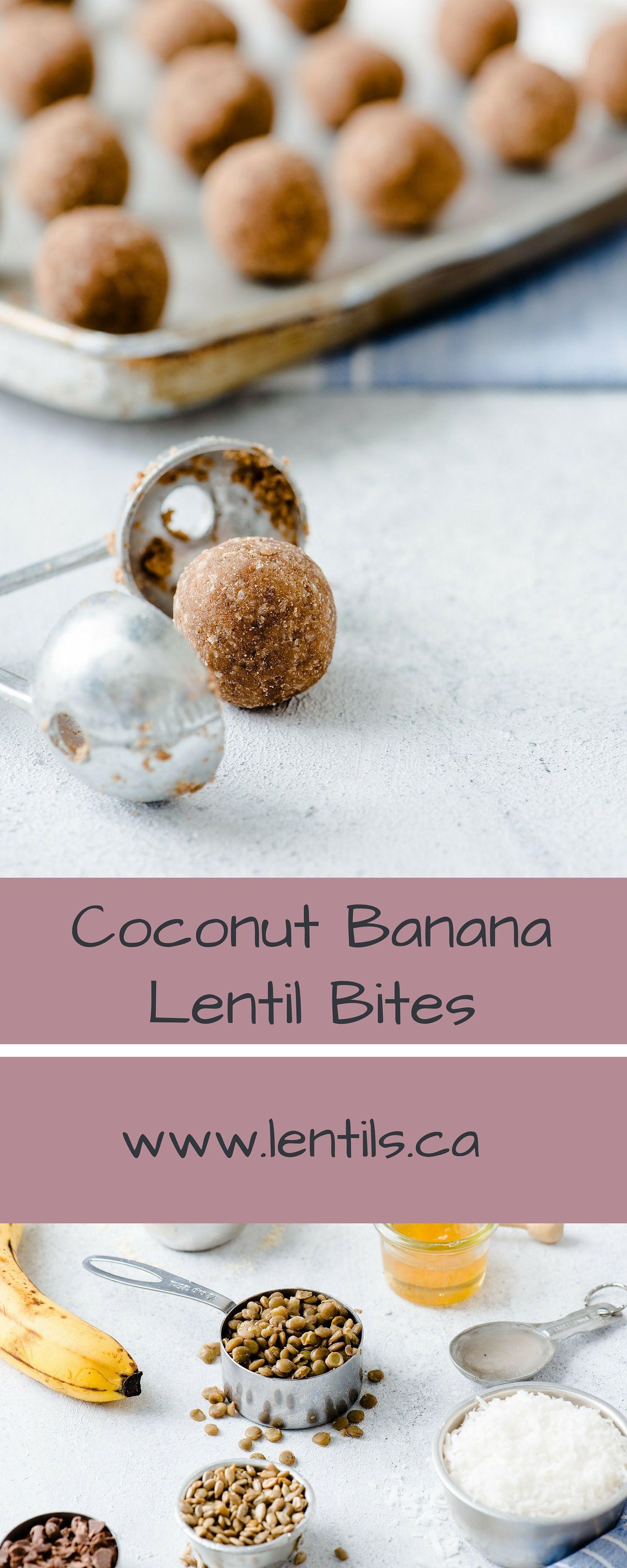 Coconut & Banana Lentil Energy Bites