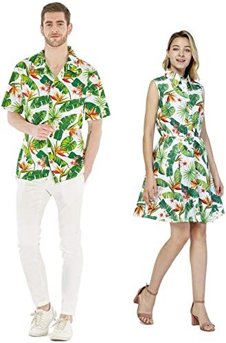 Best Seller Couple Matching Hawaiian Luau Cruise Outfit Shirt Dress Flamingo  Love online - The108Ideashits