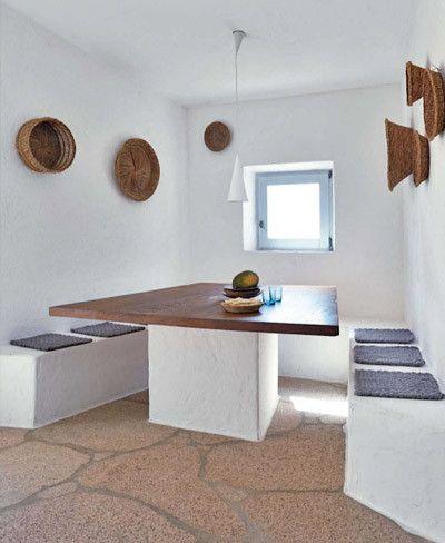 Comedor con muebles de obra muebles concreto pinterest - Muebles de playa ...