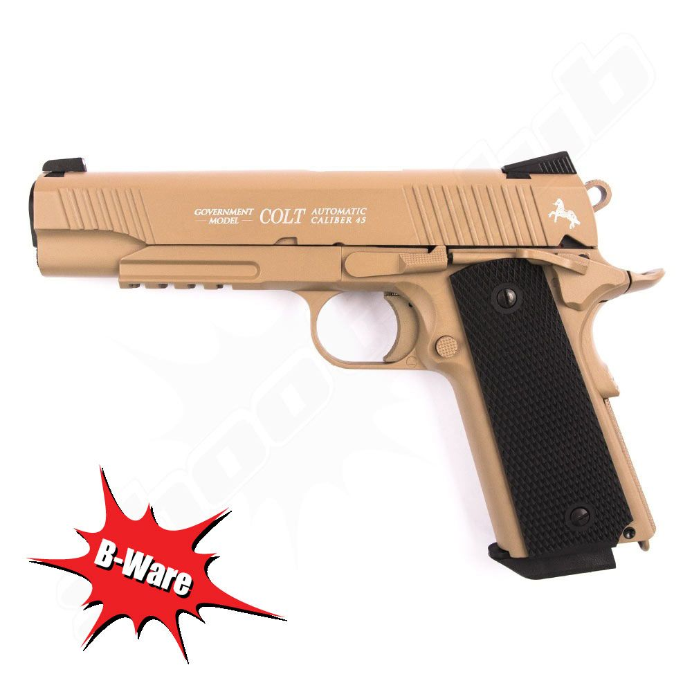 B Ware Co Pistole Colt M45 Cqbp Im Kaliber 4 5 Mm Bb Tan
