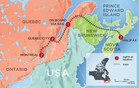 Map Of Canada Via Rail.Canada S Eastern Rail Classic Map On The Road In 2019 Canada