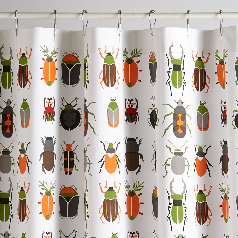 Delightful Best Bugs Kids Shower Curtain | The Land Of Nod