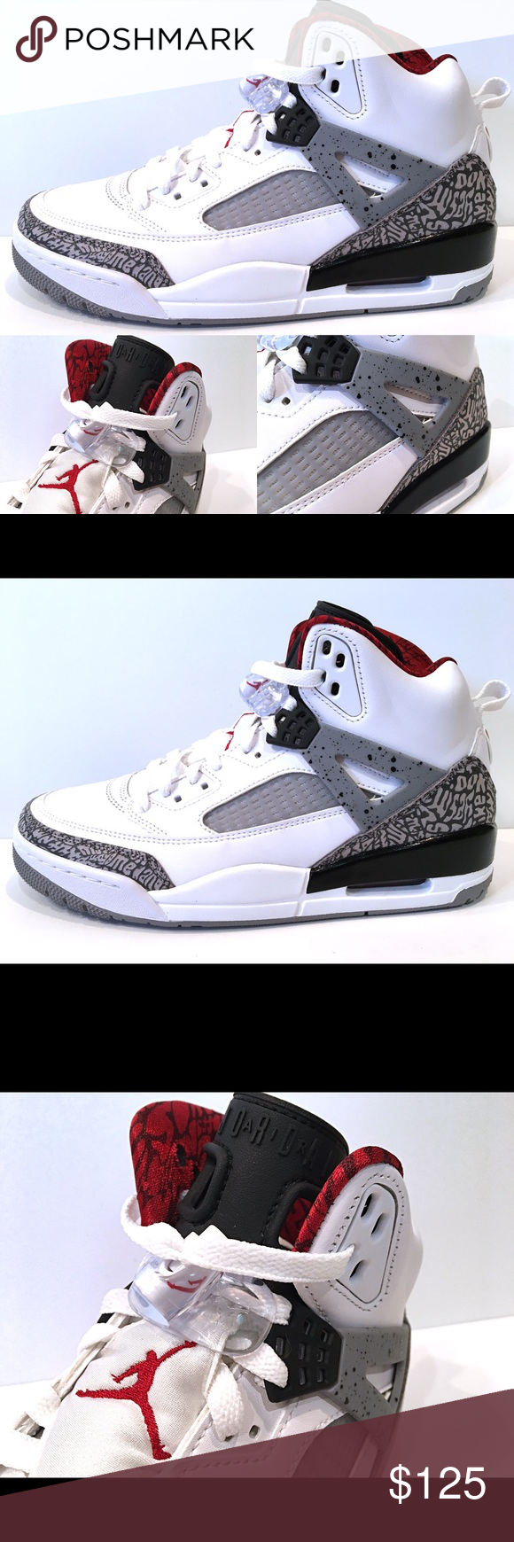 release date: 322ed 39c70 Men s Air Jordan Spizike OG White Cement Grey New Men s Air Jordan Spizike  White Cement Grey  175 New without original box Jordan Shoes Athletic Shoes