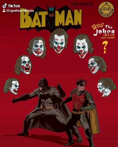 , Retro Batman VS Joaquin phoenix Joker Poster, My cartoon Blog, My cartoon Blog