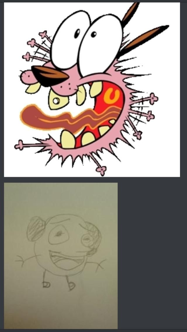 My girlfriend's friend tried to draw scared courage the