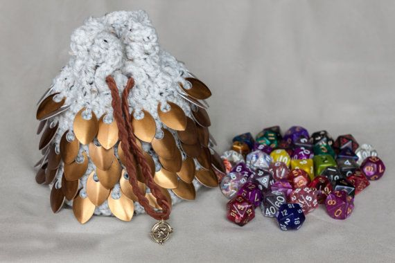 Hey, I found this really awesome Etsy listing at https://www.etsy.com/listing/477653302/scalemail-crocheted-dice-bag-dragons-egg