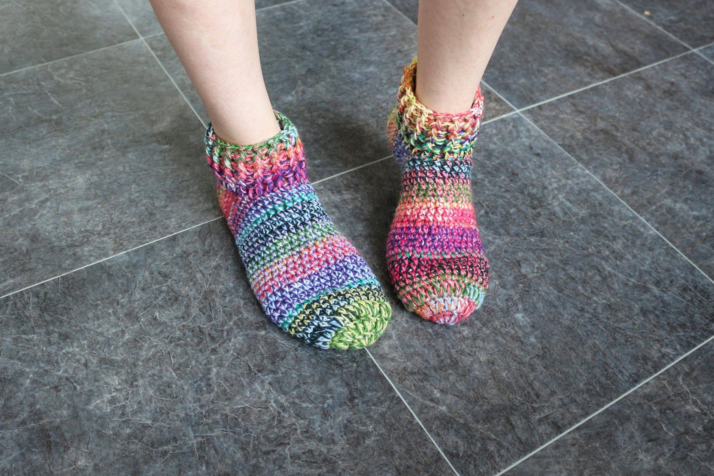 c58bb928b6c6d Bed socks Adult slippers Slipper boots Rainbow slippers Handmade ...