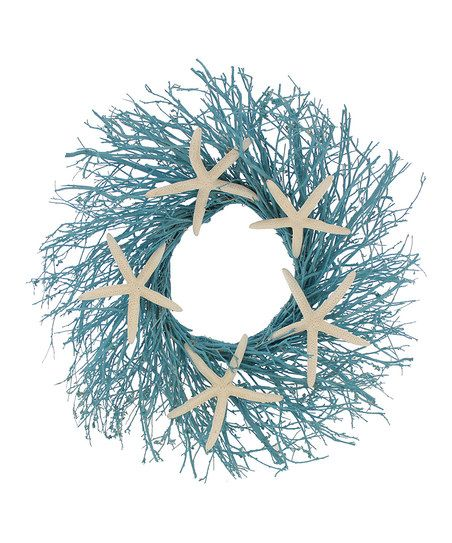 Blue Citrus Shells 22'' Wreath