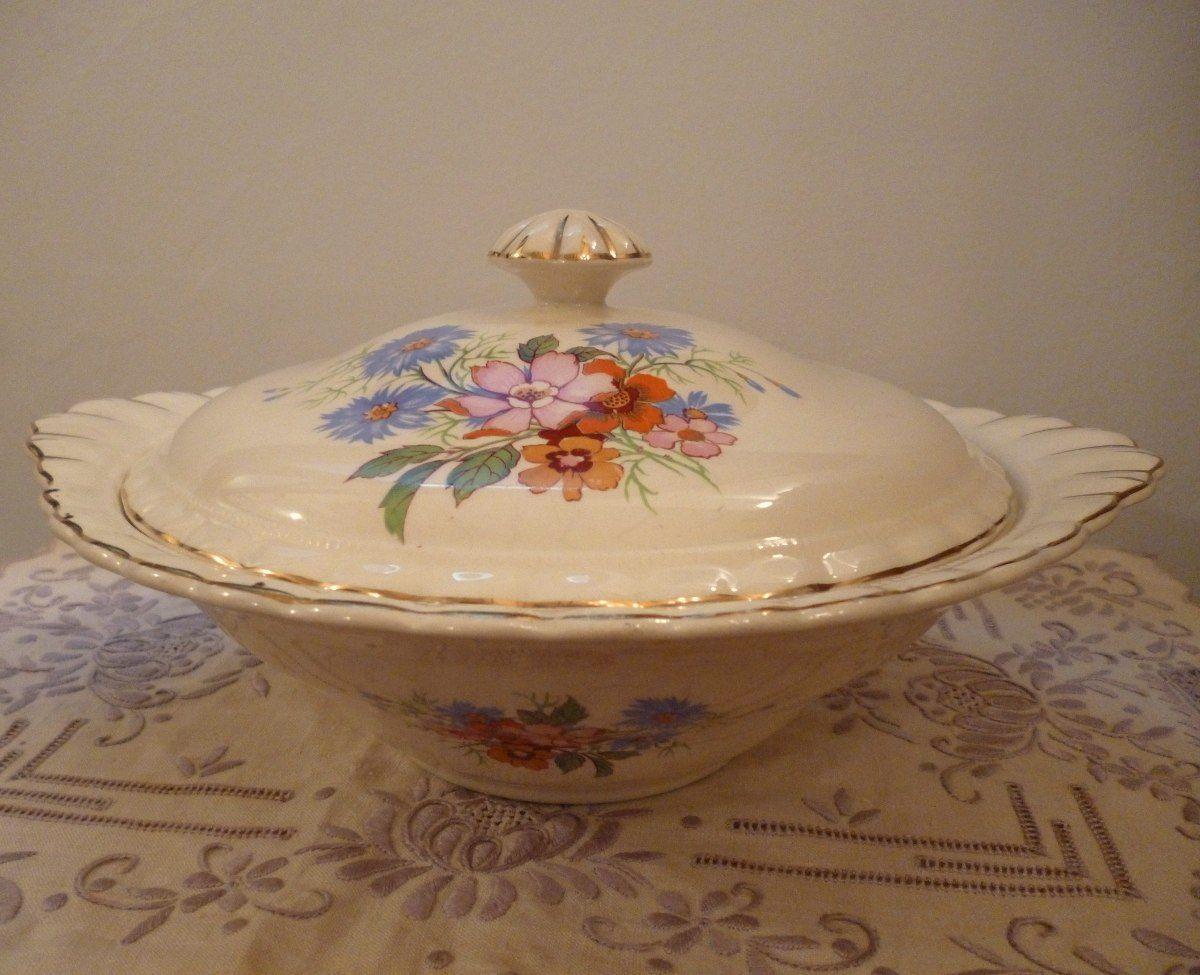Antigua guisera sopera porcelana inglesa j g meakin for Vajilla de porcelana inglesa