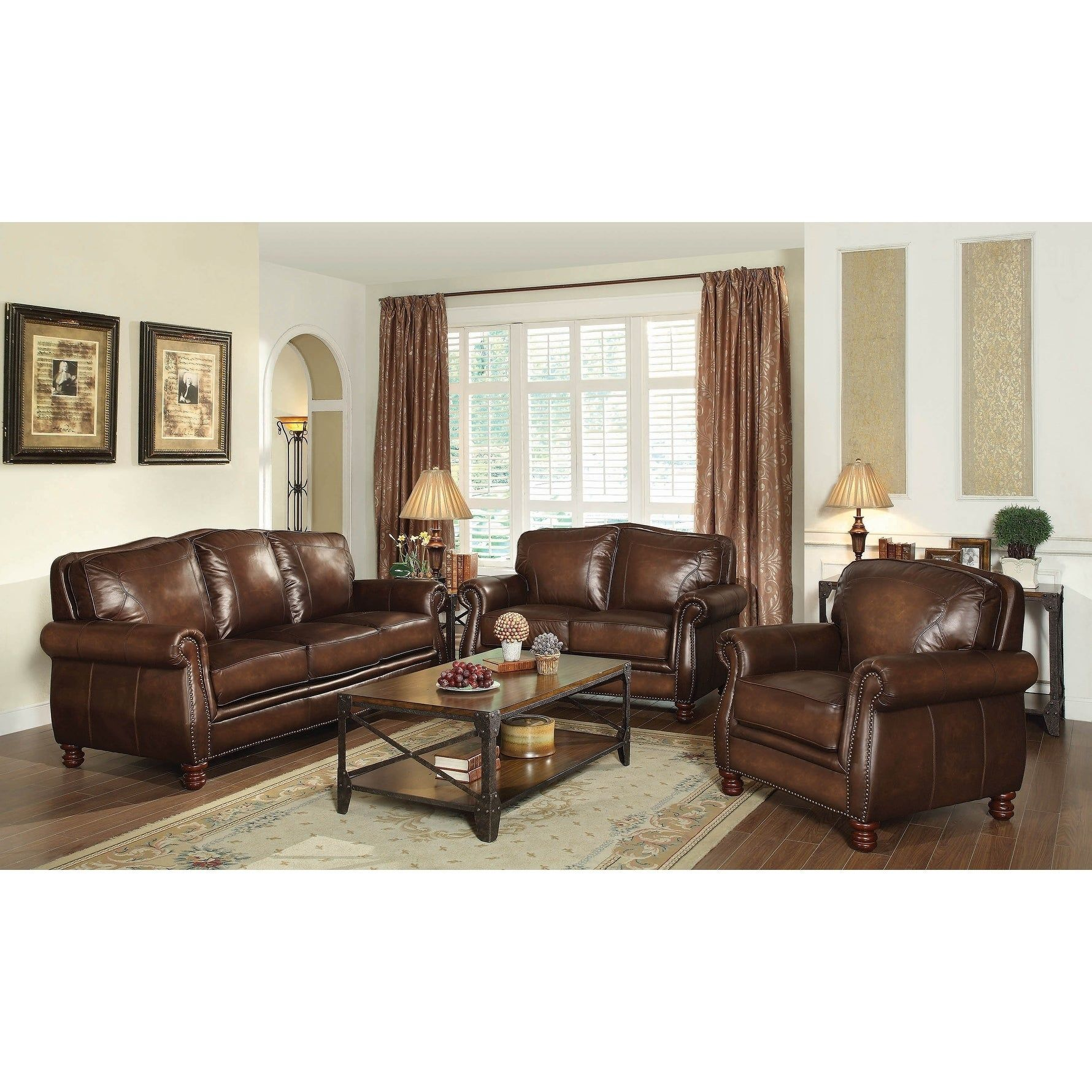 Best Ripley Hand Rubbed Brown 2 Piece Living Room Set Living 640 x 480