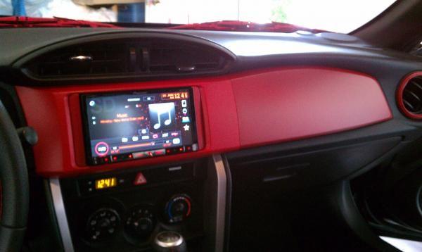 Scion FRS Red PlastiDip Dash.