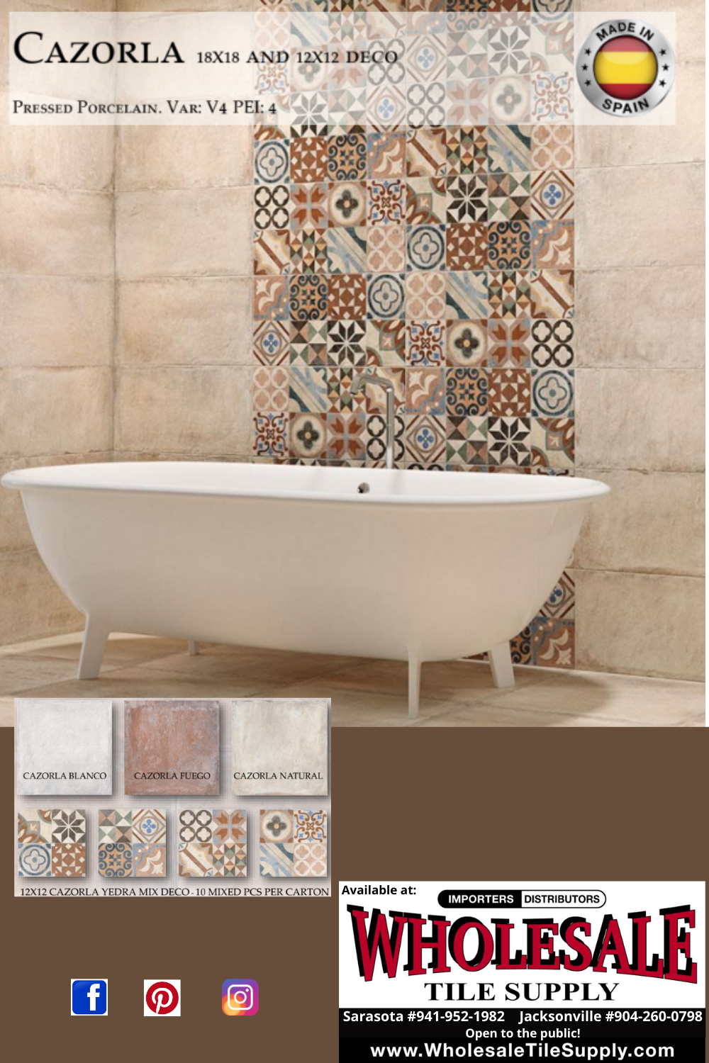 cazorla terracotta looking tile made of